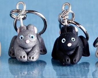 Bunny Rabbit Stitch Markers warren of 4 Polymer Clay Miniature Animal Knit, Crochet Accessories