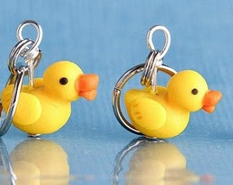 Rubber Ducky Stitch Markers (set of 4)