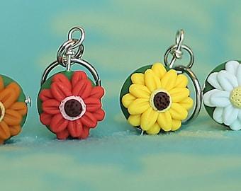 Gerbera Daisy Stitch Markers (bouquet of 4)