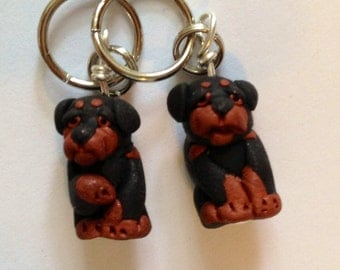 Rottweiler Stitch Markers (set of 4)
