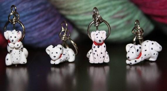 Dalmatian Stitch Markers (set of 4)