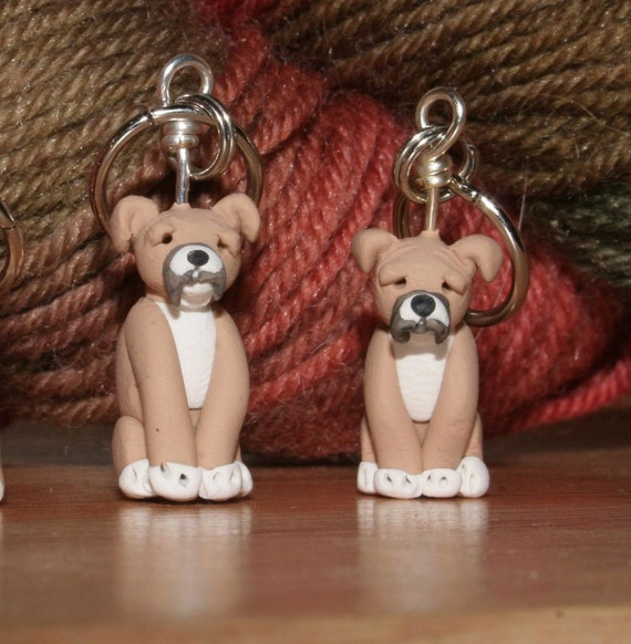 Boxer Stitch Markers  (set of 4)