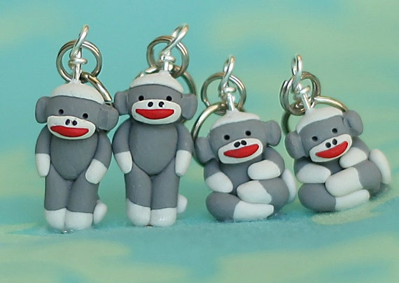 Sock Monkey Stitch Markers (set of 4)