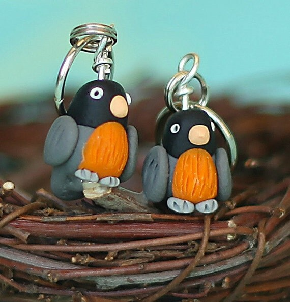 Robin Stitch Markers (flock of 4)