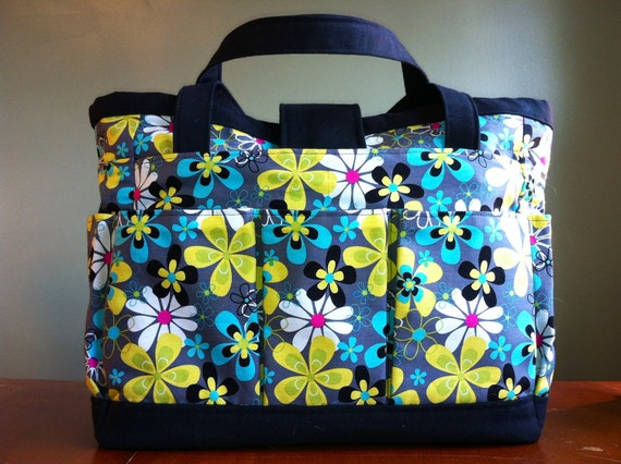 Floral Pop Knitting Tote