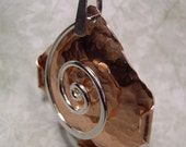 Copper Pendant with Silver Swirl