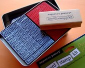 HOLIDAYS and EVENTS word stamp kit / magnetic poetry