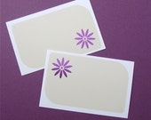 enclosure cards . 24 pieces . metallic flower blossom