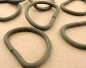 d rings heavy duty  / olive green / 20 pieces / 1.25 inch interior dee ring / d-ring . CLEARANCE SALE
