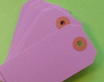 100 lavender shipping tag labels / size 3 medium