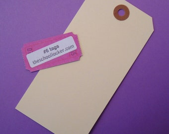 25 manila shipping tag labels / size 6