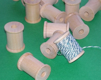 36 wooden spools / new 3cm size