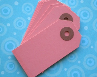75 pink shipping tag labels / size 1 small