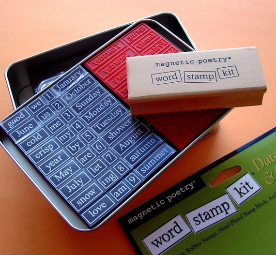 VACATION and TRAVEL word stamp kit / magnetic poetry