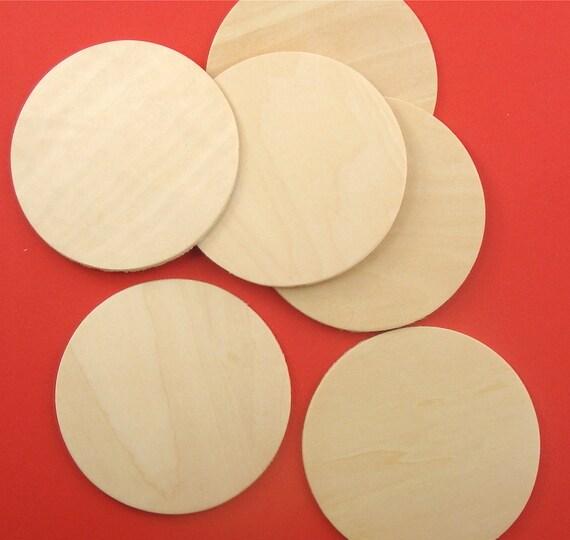 """10 pieces . 3"""" wood circles . coasters / plaques / ornaments"""