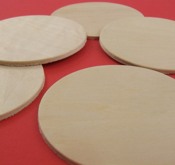 "26 pieces . 3.25"" wood circles . coasters / plaques / ornaments . last in stock"