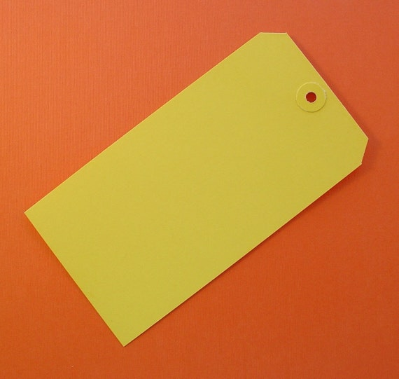60 yellow large shipping tags