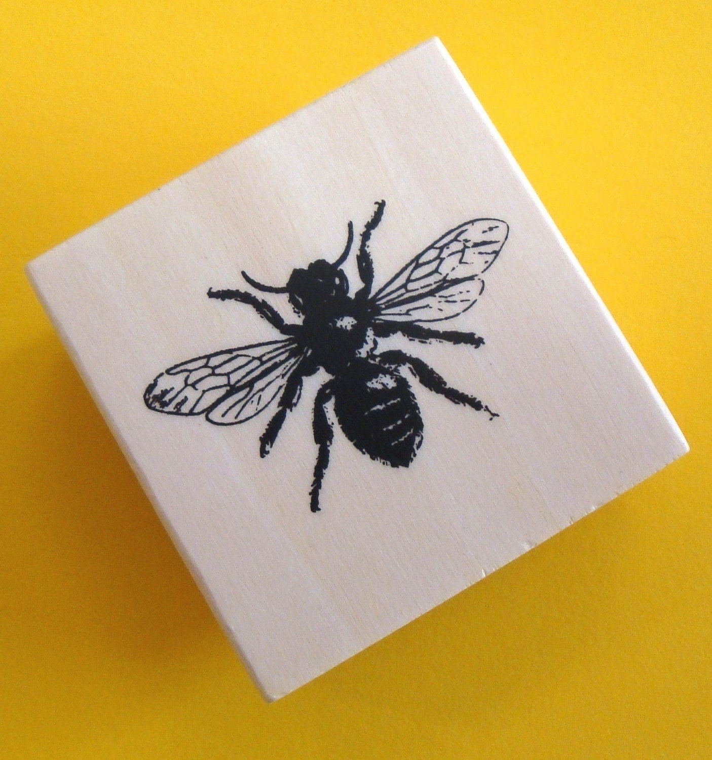 Rubber Mounted Stamp Bee Last Of Stock