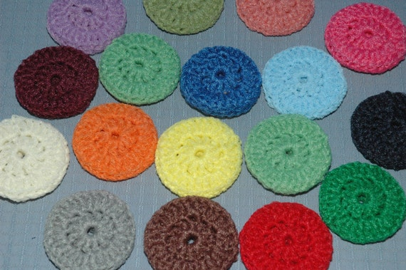Dish Scrubbies 13 SINGLE thickness Nylon Pot Scrubbers Nylon Kitchen Scrubbies choice of colors Hand crochet scrubbies per multi pack