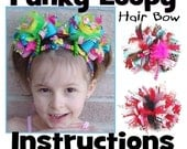 Custom Boutique Funky Loopy Bow Hair Bow Original Instant Download Instructions Tutorial Directions DoodlesBowtique