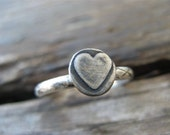 valentine sweetheart ring - size 7.25 sterling silver