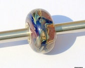 Large Hole Lampwork Sterling Cored Pandora, Troll Handmade Lampwork Bead by Glassic Gems