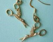 Stork Scissor Earrings