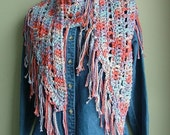 PATTERN for hand-crocheted scarf / shawlette