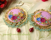 all this beauty - vintage embroidery gypsy earrings