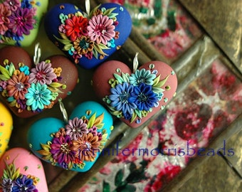 chefs choice surprise heart - festive mexican garden pendant