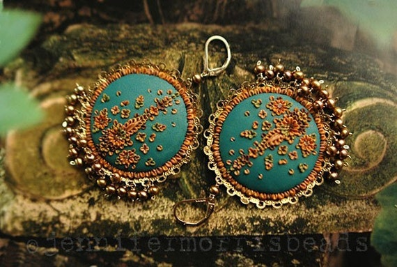 by the teal green sea - little india gypsy earrings - made to order