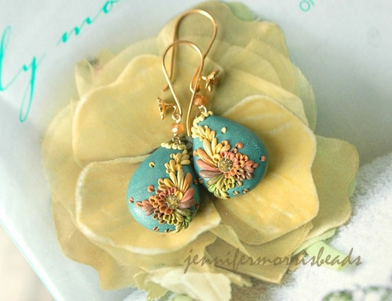sunshine on the breeze - sweet drop earrings - made to order