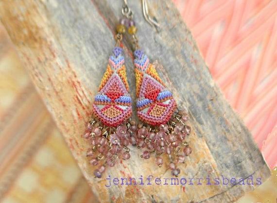 rinjani sunrise - ornate tribal inspired earrings