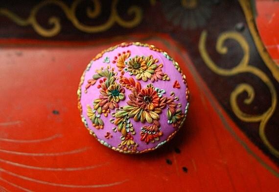 autumn carnivalia - dreamy vintage inspired brooch