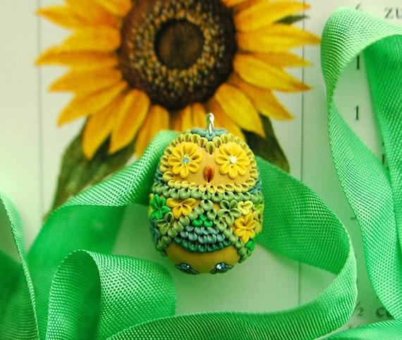sunshine baby owl - sweet lemon drop pendant