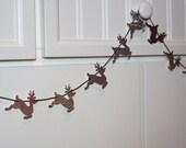 Christmas Holiday Paper Pennant Garland Kit - Reindeer, Snowman, Tree, Mitten or Mixture