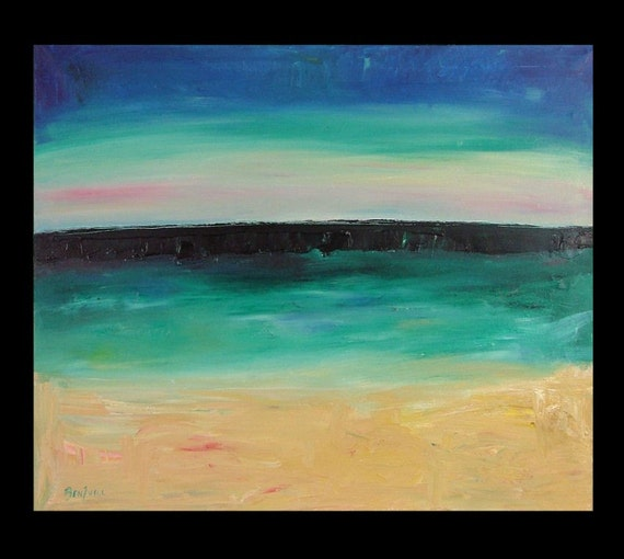36 inch ABSTRACT SEASCAPE ORIGINAL PAINTING BenWill