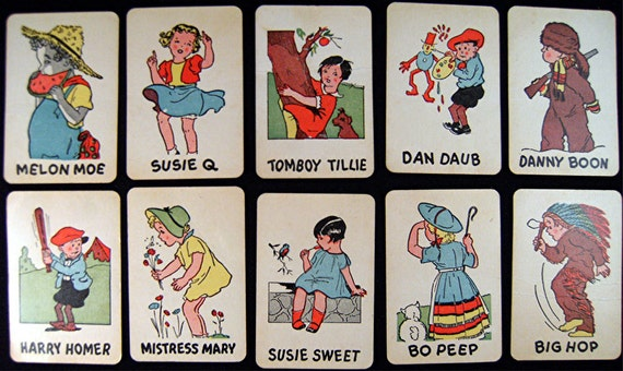 Vintage OLD MAID Playing Cards Mini's Set No.1