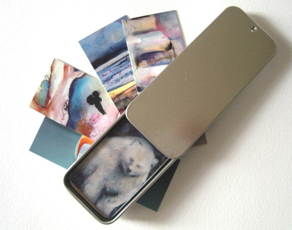 Sliding Top Tin-Perfect for Moo Cards
