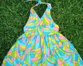 colorful halter dress-EtsyKids