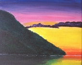 Sunset on the Water Original Acrylic