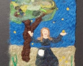 STAR MONEY an original needle felted tapestry