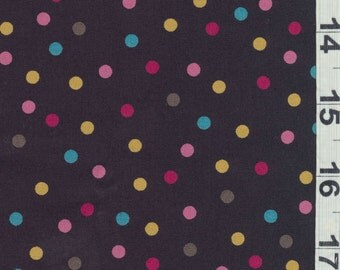 Japanese Fabric: Sevenberry Colorful Polka Dots, Half Yard