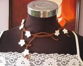 white cherry blossom necklace