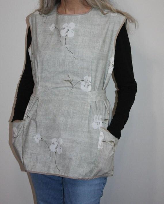 mamotthreads vintage style apron - large / plus size