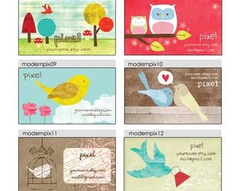 Business Cards  Custom Business Cards  Personalized Business Cards  Business Card Template  Modern Business Cards  Bird Business Cards