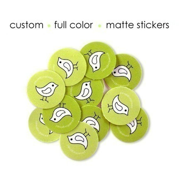 40 Custom Logo Stickers - Round 1.75 inches - Matte