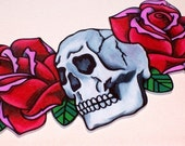 love will tear us apart rose and skull necklace