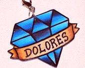 blue diamond pet tag