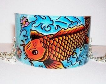 japanese koi cuff bracelet